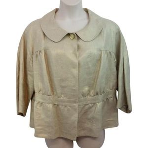 Semantiks Linen Button 16w Blouse